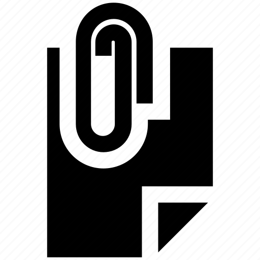 attach, attachment, clip, document, paper, paperclip icon