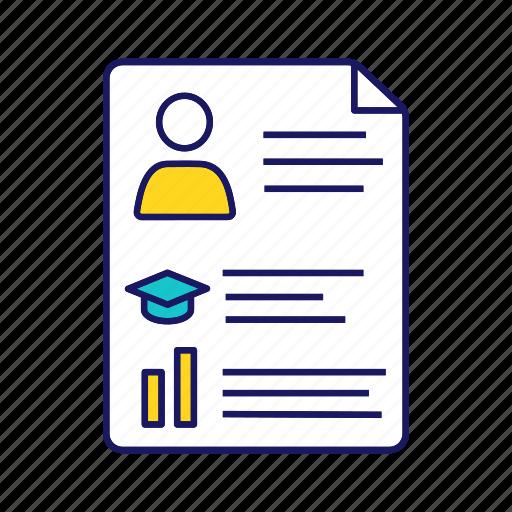 Achievement, curriculum vitae, cv, employment, experience, interview, resume icon - Download on Iconfinder