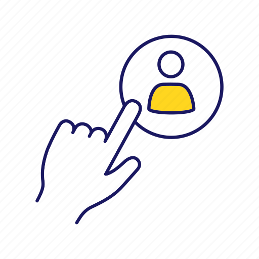 click, employment, headhunting, hiring, human resources, recruitment, staff icon