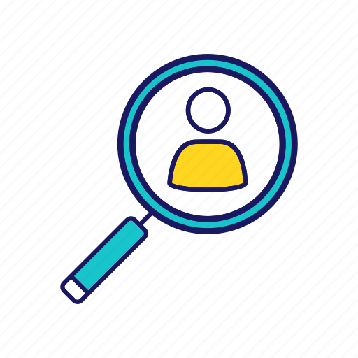 Employment, headhunting, magnifier, personnel, recruitment, search, staff icon - Download on Iconfinder