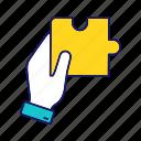 adjacent piece, decision, hand, problem solving, puzzle, solution, match