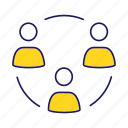 business, circle, cooperation, partnership, people, team, teamwork icon