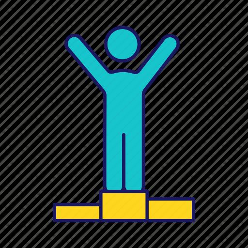 Achievement, champion, success, triumph, victory, win, winner icon - Download on Iconfinder
