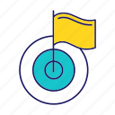 achieve, aim, business, flag, goal, success, target icon