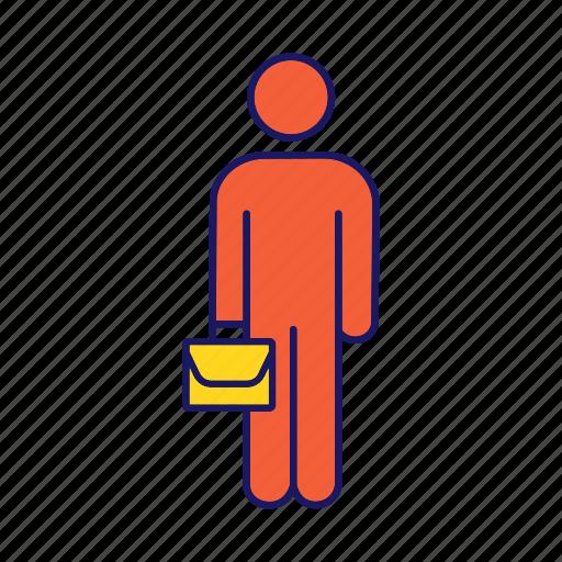 Briefcase, business, businessman, job, man, person, work icon - Download on Iconfinder