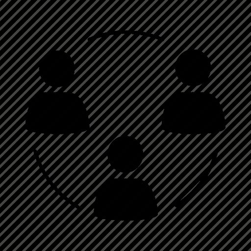 business, circle, cooperation, partnership, people, team, teamwork icon