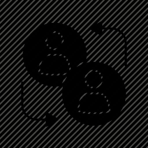 Arrow, business, partner, partnership, people, team, teamwork icon - Download on Iconfinder