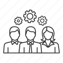 cog, cogwheel, gear, leadership, management, mechanism, teamwork icon