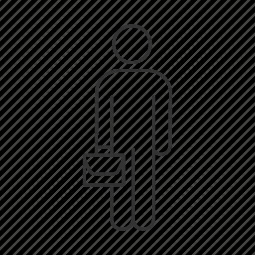briefcase, business, businessman, job, man, person, work icon