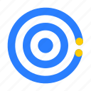 business, economic, management, presentation, strategy, target icon