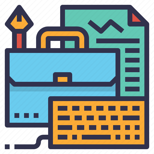 briefcase, development, job, management, portfolio, project icon