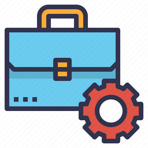 briefcase, business, management, setting, setup icon