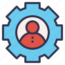 control, corporate, management, setting, user icon