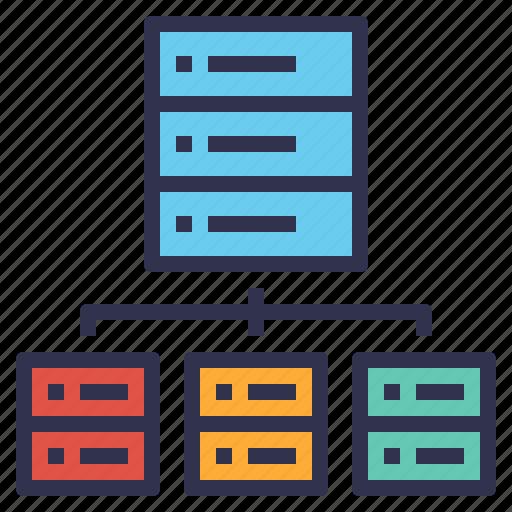 data, database, information, management, server, storage icon
