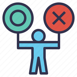 accept, choosing, decision, making, reject, select icon
