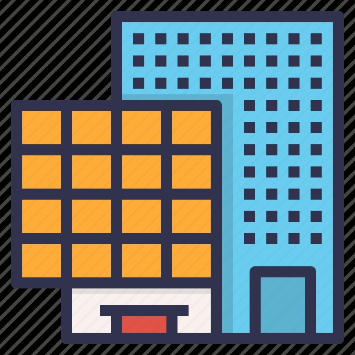 Apartment, building, city, condo, enterprise, headquarter icon - Download on Iconfinder