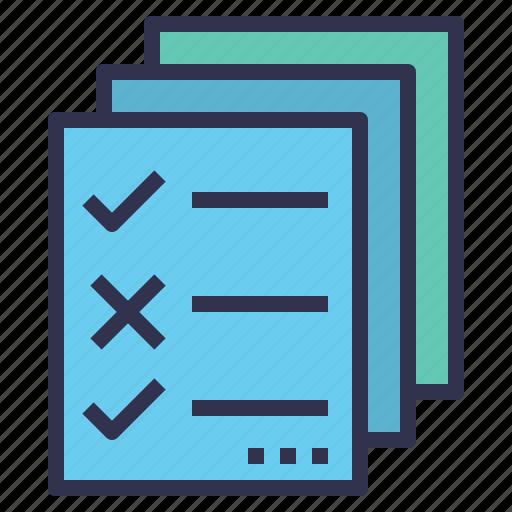 checklist, document, kpi, regulation, rule icon