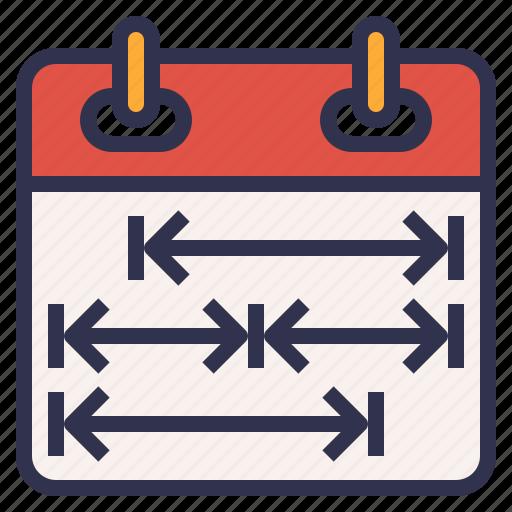 calendar, plan, schedule, time, timeline icon