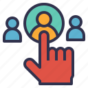 choose, hr, human, job, person, resource, right, select icon