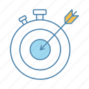 clock, deadline, goal, stopwatch, target, task, time management icon
