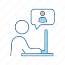 chat, chatting, conversation, interview, message, online, speech bubble icon