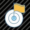 achieve, aim, business, flag, goal, success, target icon