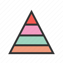 business, chart, graph, growth, hierarchy, presentation, pyramid icon