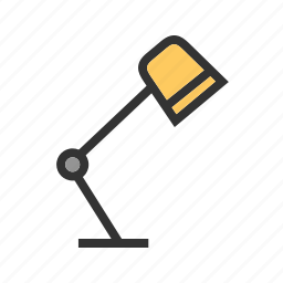 desk, furniture, lamp, office, table, top, work icon