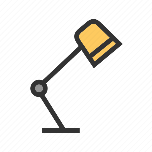 Desk, furniture, lamp, office, table, top, work icon - Download on Iconfinder