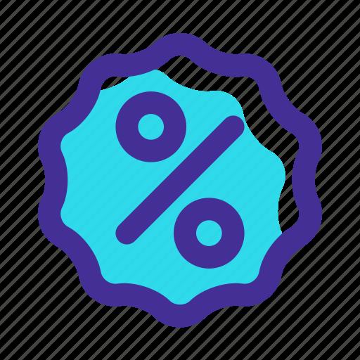 badge, campaign, discount, discount badge, percentage, price discount, sale icon icon