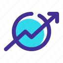 arrow, business, progress, schedule, up icon icon