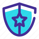 bank, firewall, safe, secure, security, shield, swords icon icon