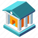 architecture, bank, banking, building, business, court, finance icon