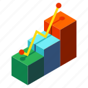 achievement, business, development, graph, growth, profit, success icon