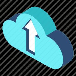 business, cloud, computing, database, storage, technology, upload icon