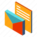 business, document, email, mail, message, office, report icon