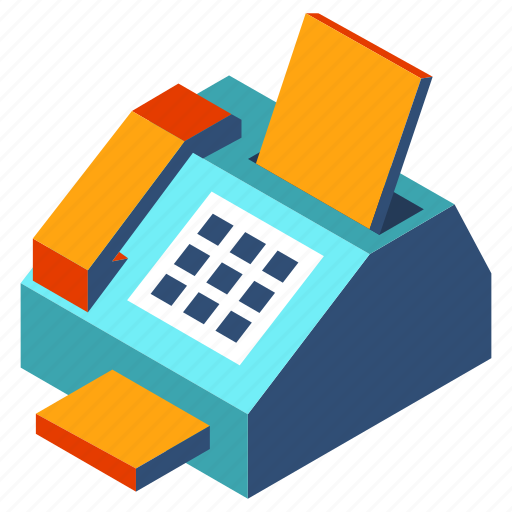 business, document, equipment, fax, office, paper, phone icon