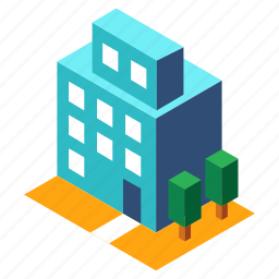 architecture, building, buildings, business, isometric, office, structure icon
