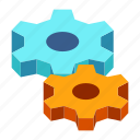 engineering, gear, industrial, industry, process, production, settings icon