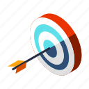 accuracy, archery, business, goal, marketing, success, target icon