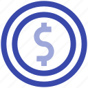 business, coin, dollar, management, money, payment icon