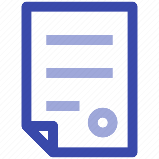 business, contract, file, management, paper, sign icon