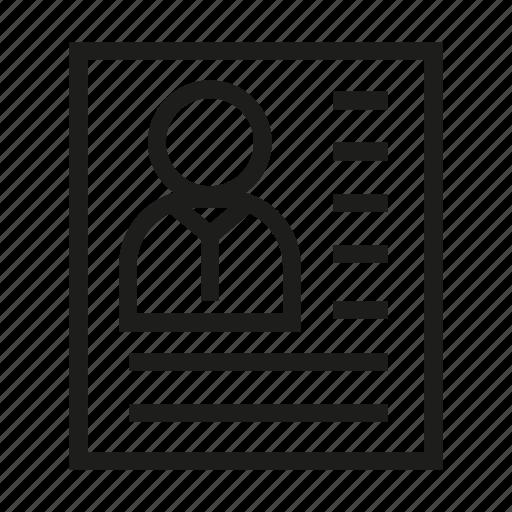 cv, document, paper, resume icon