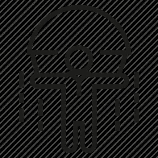 jump, people, risk, secure, umbrella icon