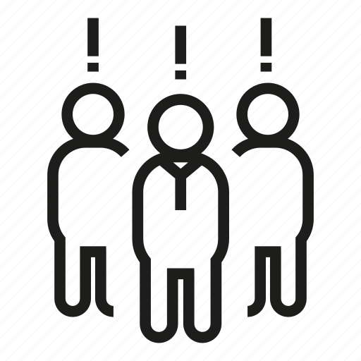 exclamation mark, group, people icon