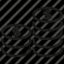 coin, finance, money, saving, stack icon