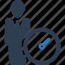 businessman, performance, speed, speedometer icon