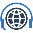 center, communication, global, help, support, talk icon