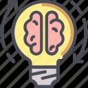 brain, bulb, creative, idea, lamp, light
