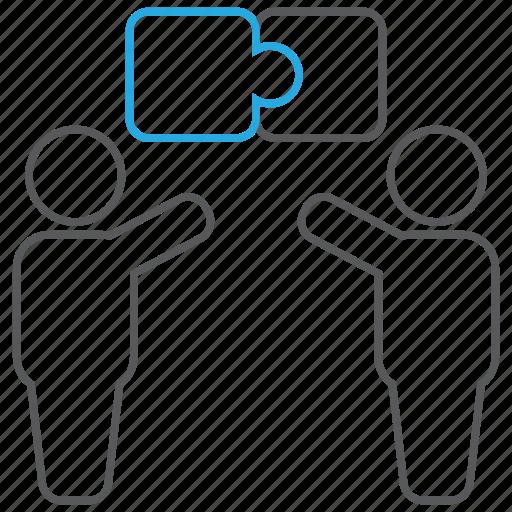business, communication, contribution, contributor, idea, solution icon